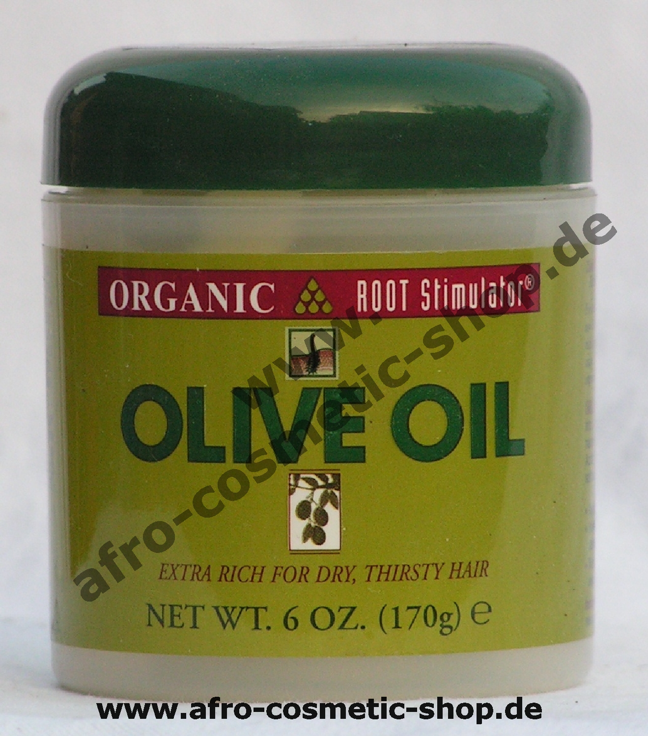 organic root stimulator olive oil treatment 6 oz afro cosmetic shop. Black Bedroom Furniture Sets. Home Design Ideas