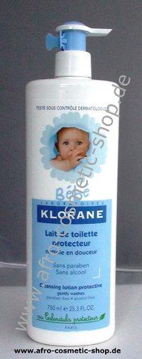 bébé klorane lait de toilette protecteur bébé 750 ml afro