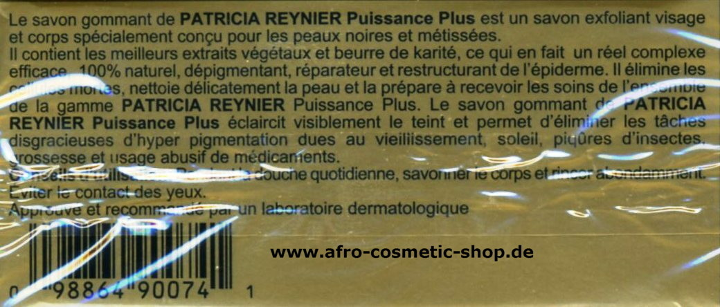 patricia reynier puissance plus savon afro cosmetic shop. Black Bedroom Furniture Sets. Home Design Ideas