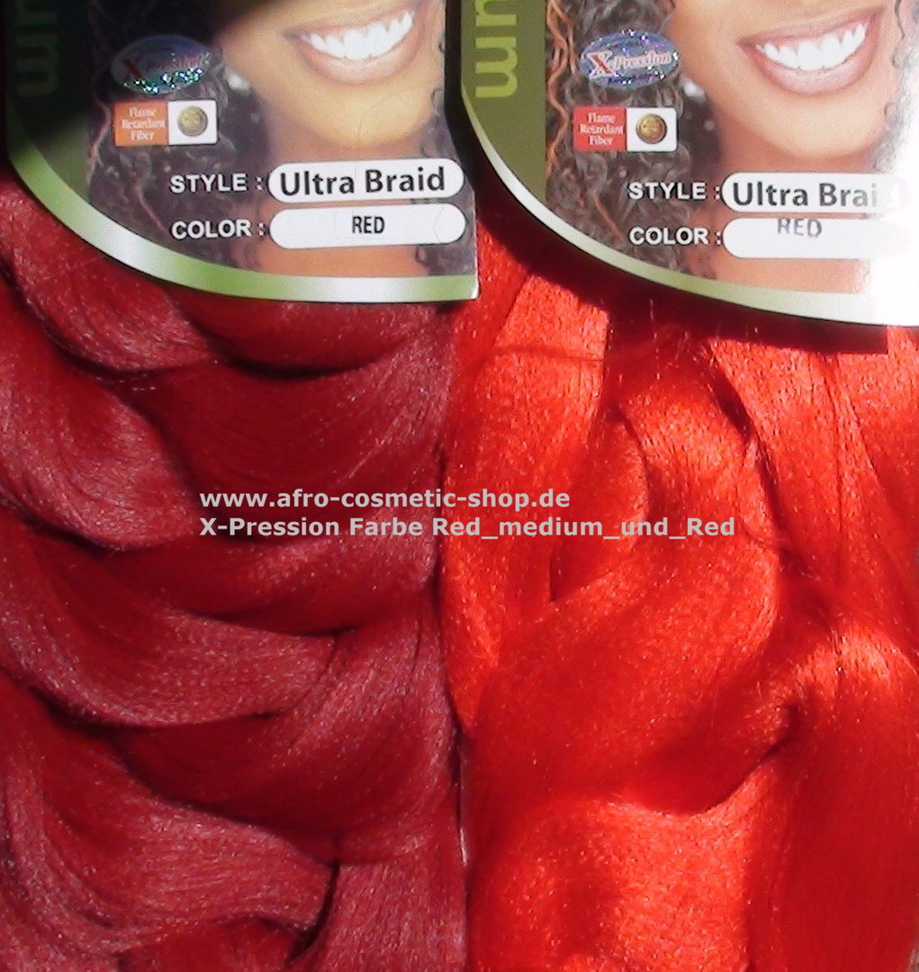 X Pression 174 Ultra Braid Farbe Rot Medium Afro Cosmetic Shop