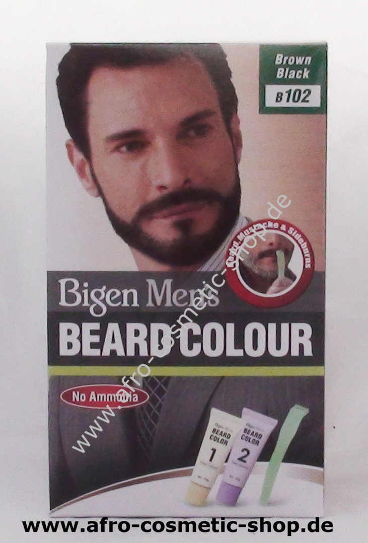 Bigen B102 Men\'s Beard Colour Brown Black