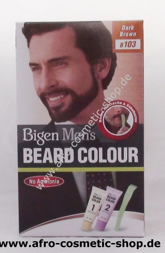 Bigen B103 Men\'s Beard Colour Dark Brown - Afro Cosmetic Shop