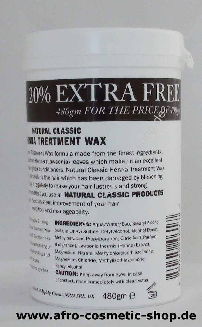 Natural Classic Henna Treatment Conditioner Afro Cosmetic Shop