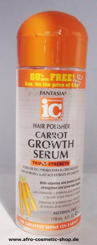 Fantasia IC Hair Polisher Carrot Growth Serum 6 oz