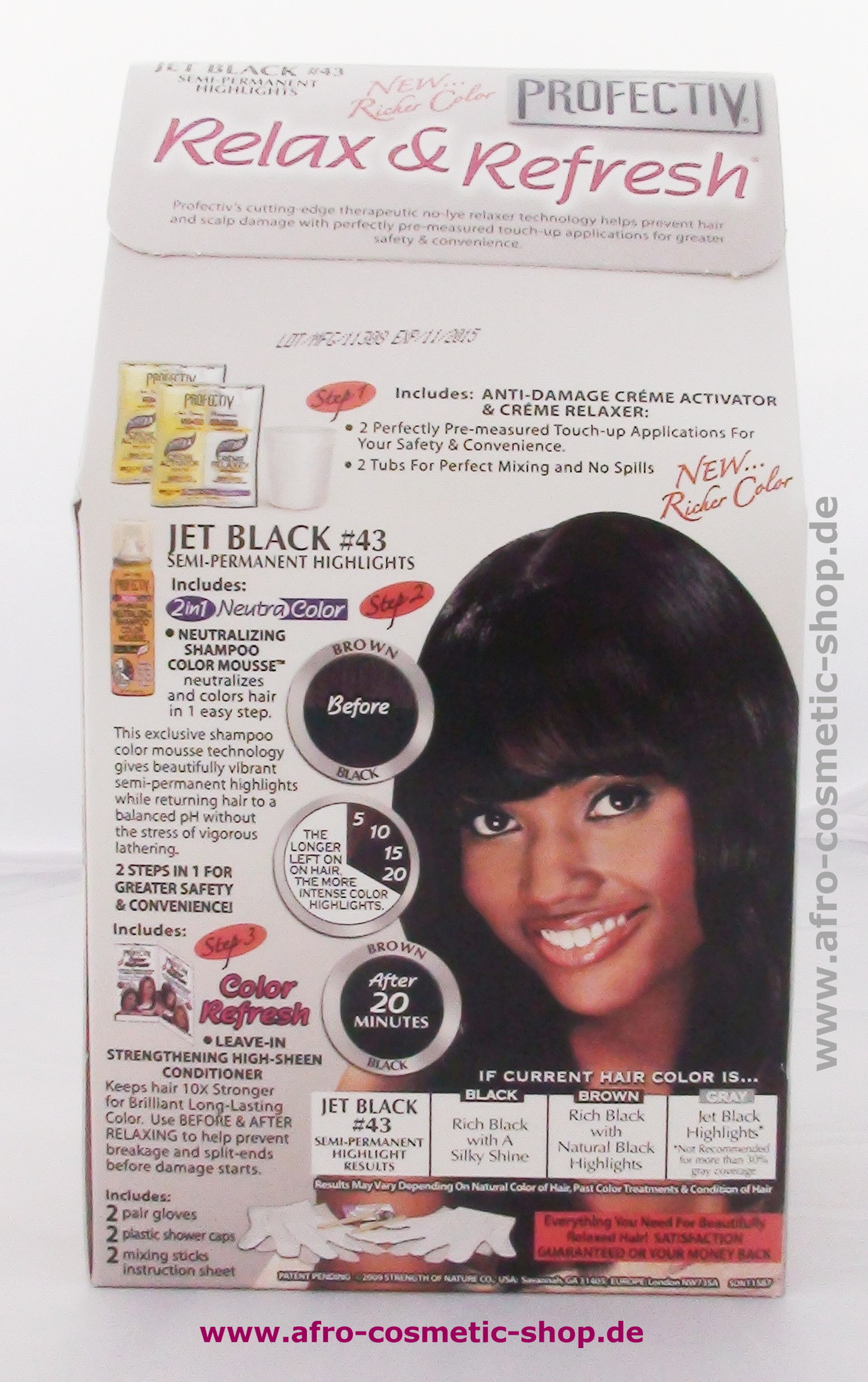 Profectiv 146 Relaxer Kit Plus Color Jet Black Afro Cosmetic Shop