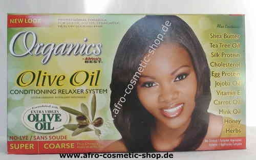 Africa's Best Organics No-Lye Olive Oil Relaxer Kit Super