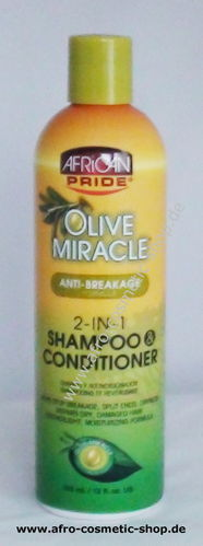African Pride Olive Miracle 2-in-1 Shampoo & Conditioner (440)