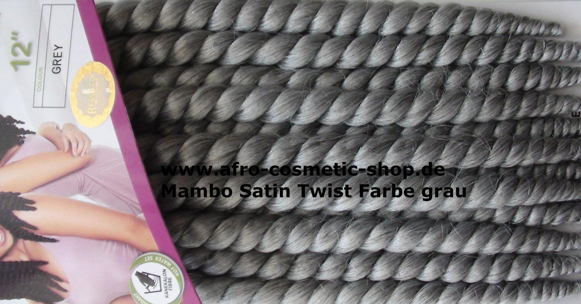 mambo satin twist 12 farbe grau afro cosmetic shop. Black Bedroom Furniture Sets. Home Design Ideas