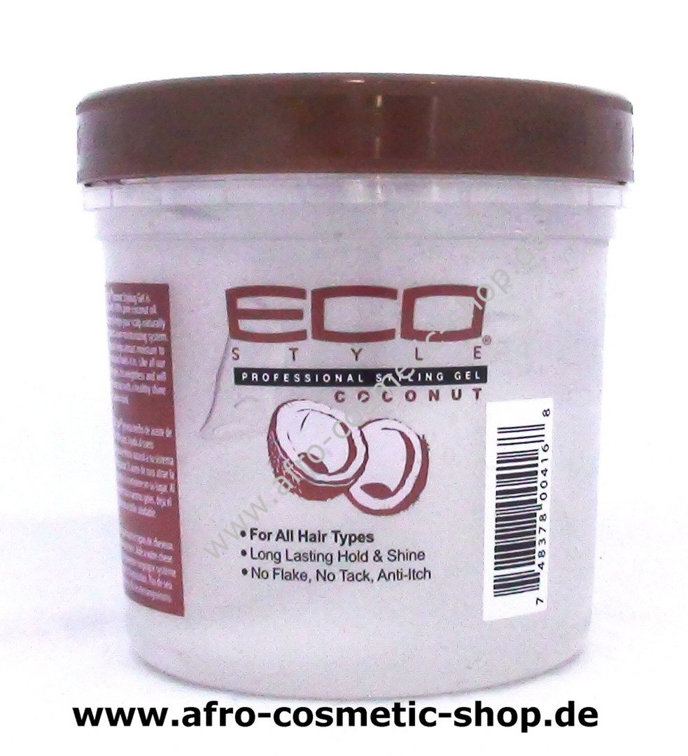 Eco Coconut Oil Styling Gel 16 Oz Afro Cosmetic Shop