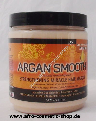 Argan Smooth Hair Masque    15 oz