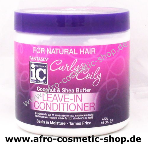 Fantasia IC Curly & Coily Leave-In Conditioner