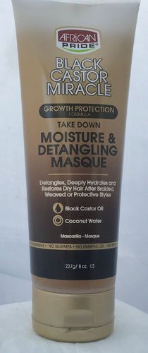 African Pride Black Castor Miracle Moisture & Detangling Masque